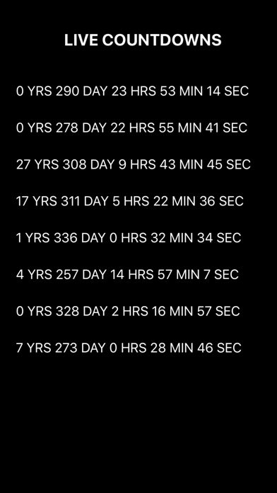 Countdown App Screenshot