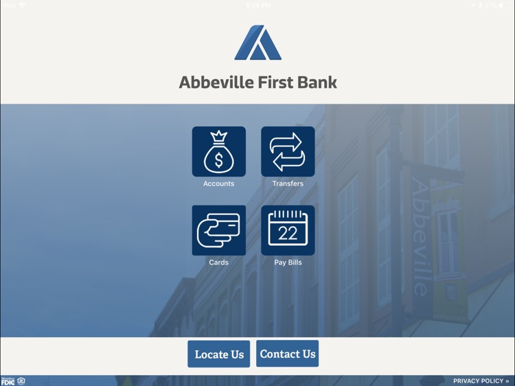 Abbeville First Bank for iPad