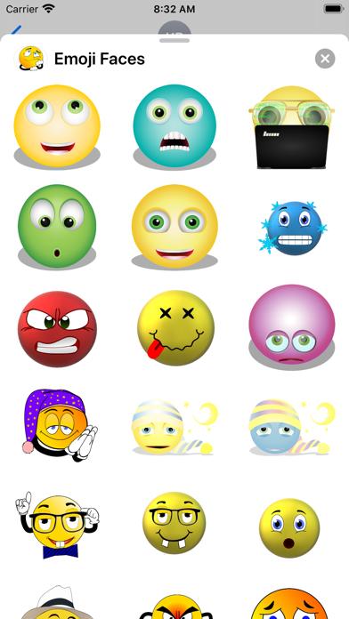 Emoji Faces Sticker Pack screenshot 6