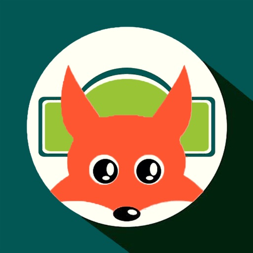 Red fox music station icon