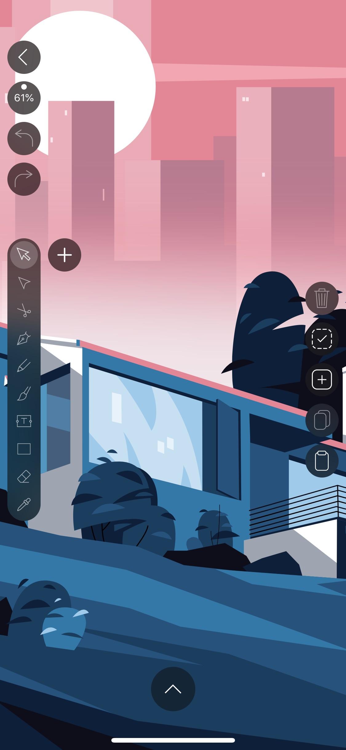 Screenshot do app Vectornator X - Vector Art