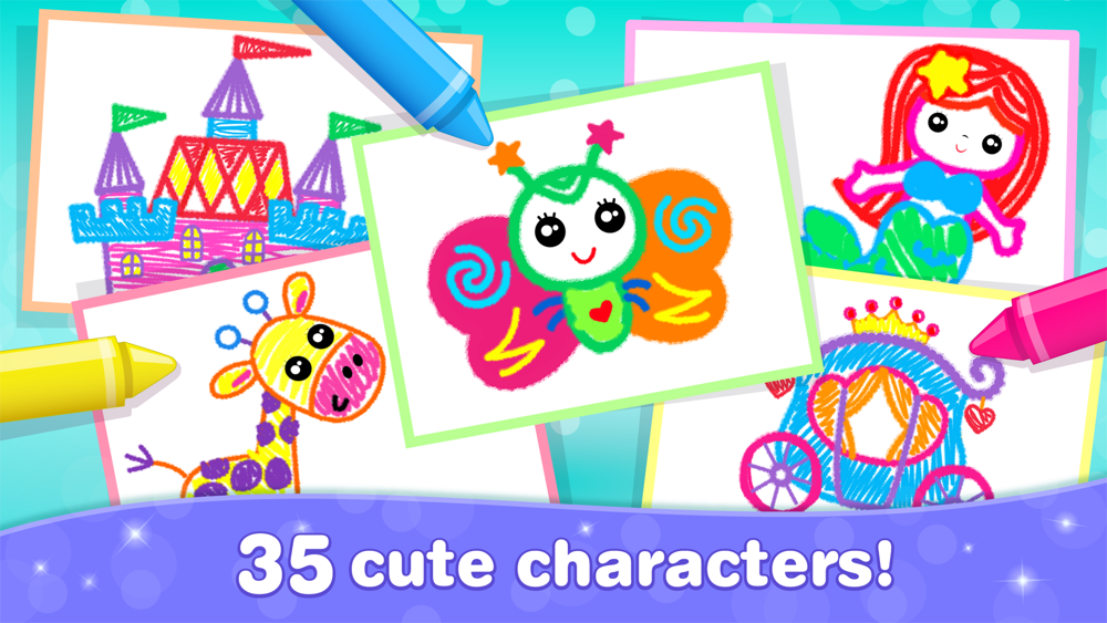 Kids Drawing Games for Girls 4 App for iPhone - Free ...