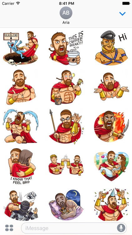 Funny Spartan Heroes Stickers