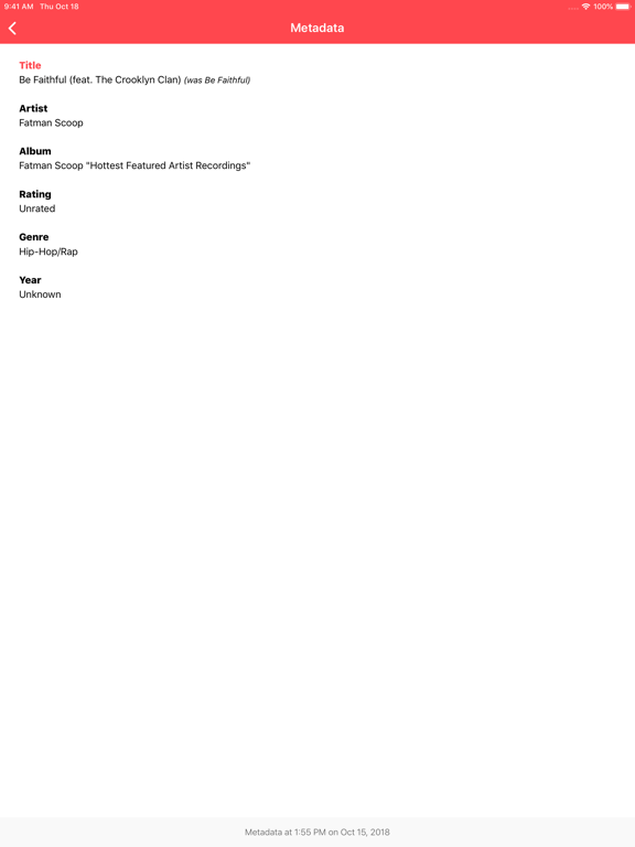 Music Library Tracker Screenshots
