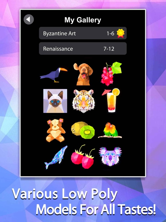 Idle Painter 3D-Low Poly&Tap screenshot 7