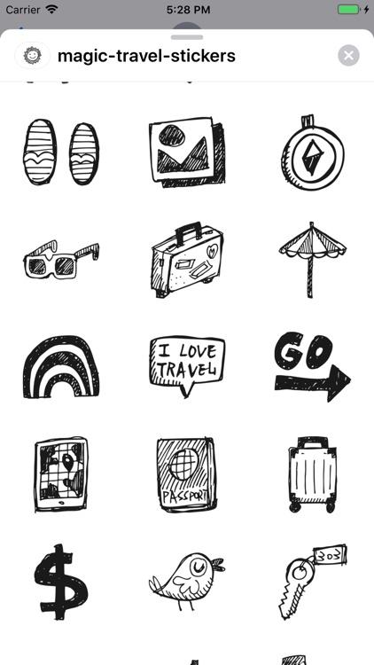 Magic Travel Stickers screenshot-6