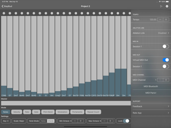 StepBud - AUv3 MIDI Sequencer