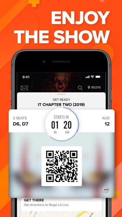 Fandango Movie Tickets & Times Screenshot on iOS