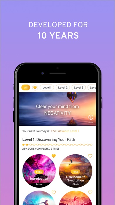 Synctuition Meditation Program Screenshot