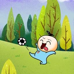 大头爱踢球