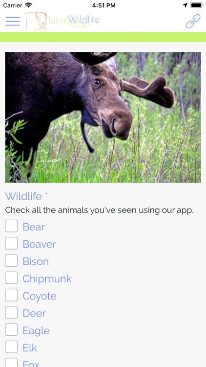 Teton Wildlife Map screenshot-4