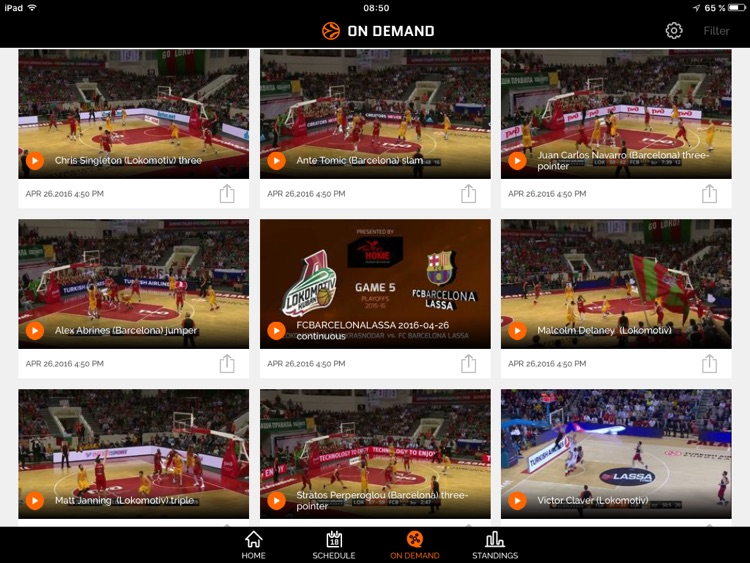 Euroleague TV for iPad screenshot-1