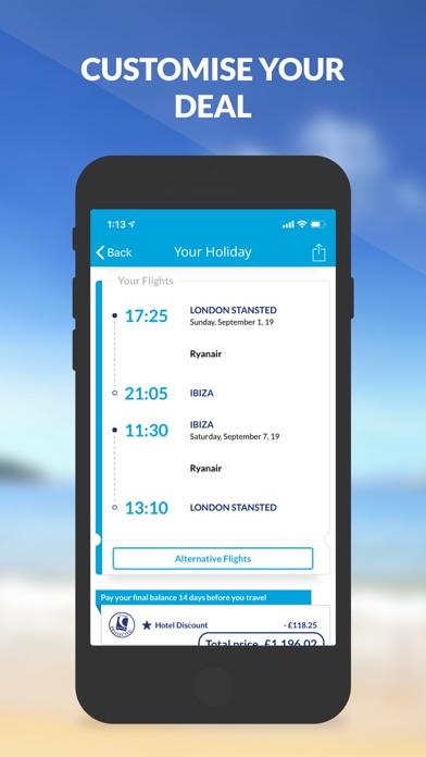 On the Beach Holiday App screenshot three