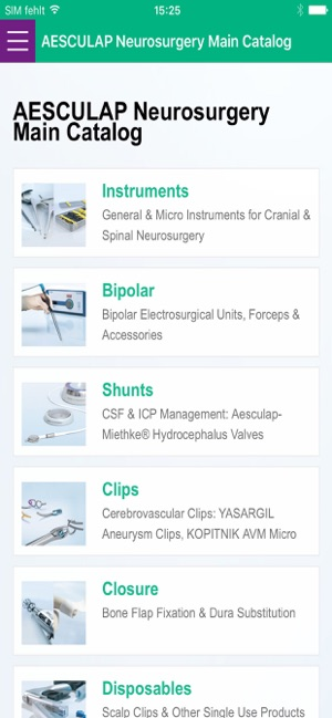 AESCULAP Neurosurgery Catalog on the App Store