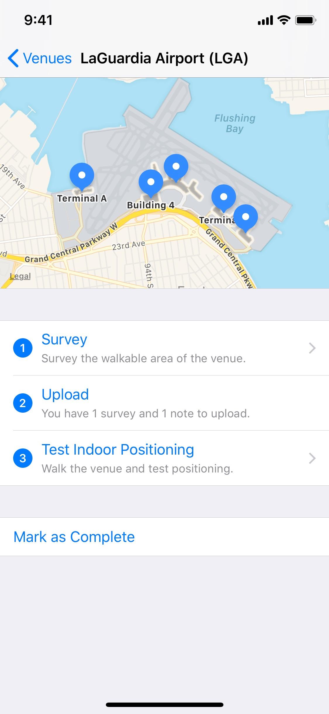 Screenshot do app Mapeamento de Interiores