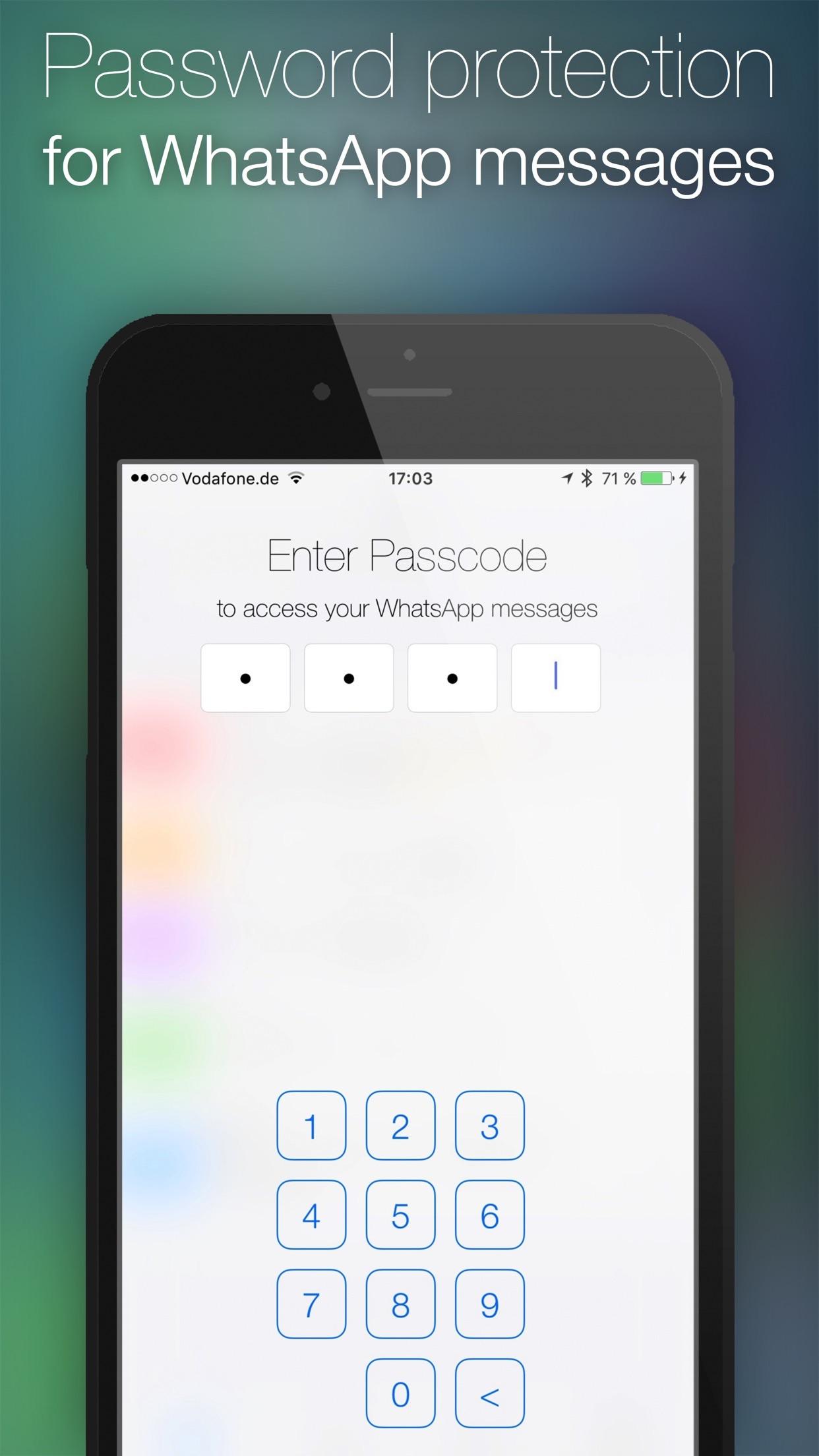 Password for WhatsApp Messages Screenshot