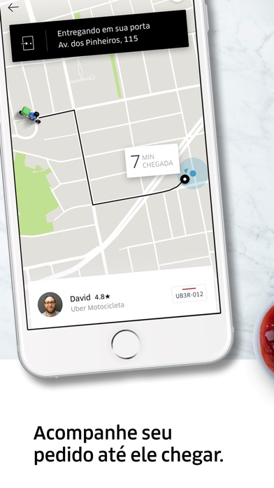 Screenshot for Uber Eats: entrega de comida in Brazil App Store