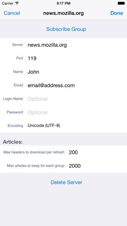 yrNews Usenet Reader screenshot-3