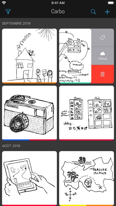 Screenshot #1 pour Carbo › Notes et dessins