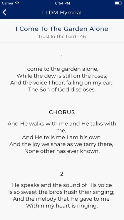 LLDM Hymnal