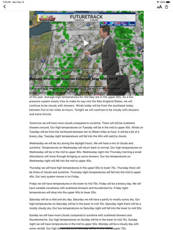 WTAJ Your Weather Authority | App Price Drops