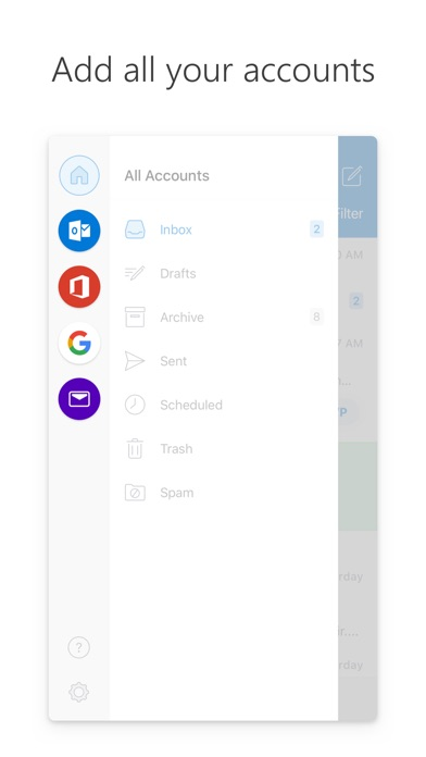 Microsoft Outlook Screenshot on iOS