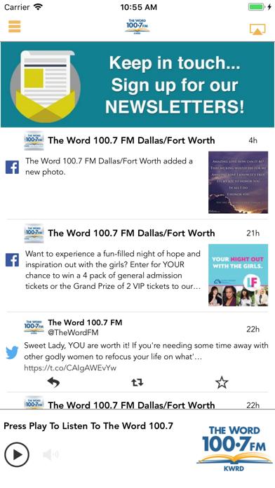 The Word 100.7FM screenshot one