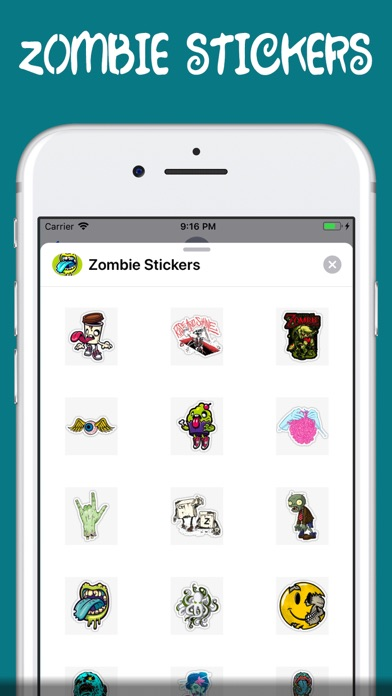 Screenshot for zombie stickers † in Egypt App Store