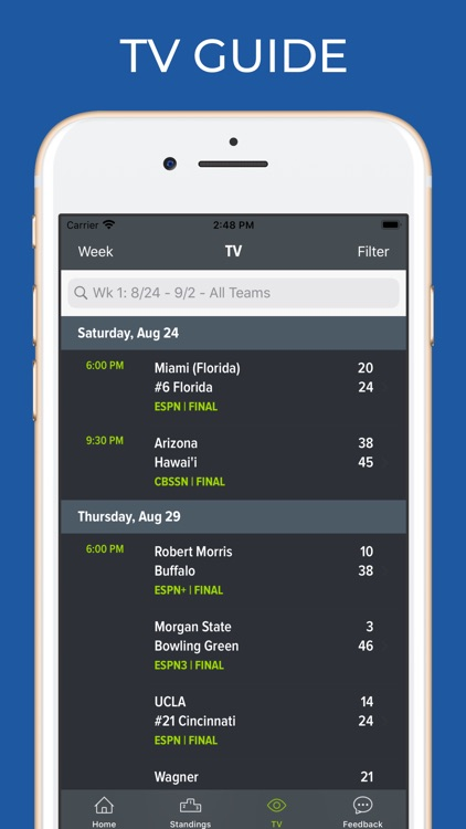 Memphis Football Schedules screenshot-6