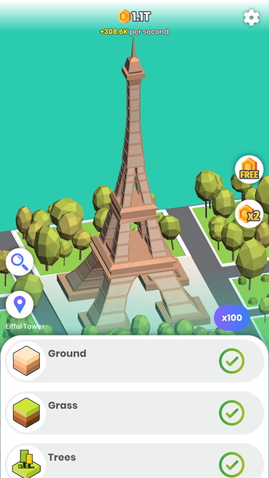 Idle Landmarks screenshot 4