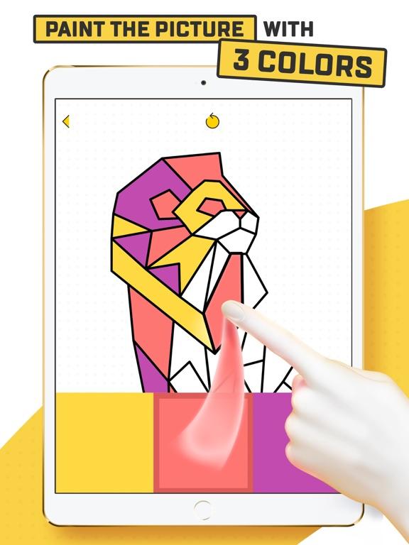 Trio - Polygon Coloring Puzzle screenshot 6