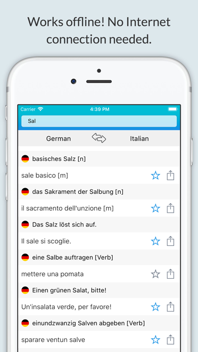 German Italian Dictionary + screenshot 1