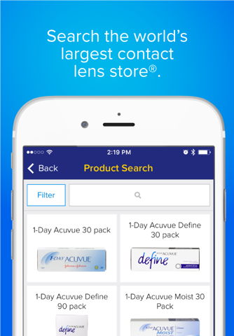 Screenshot of 1-800 Contacts