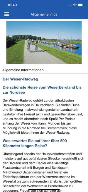 Weser Radweg Karte.Offizielle Weser Radweg App Im App Store