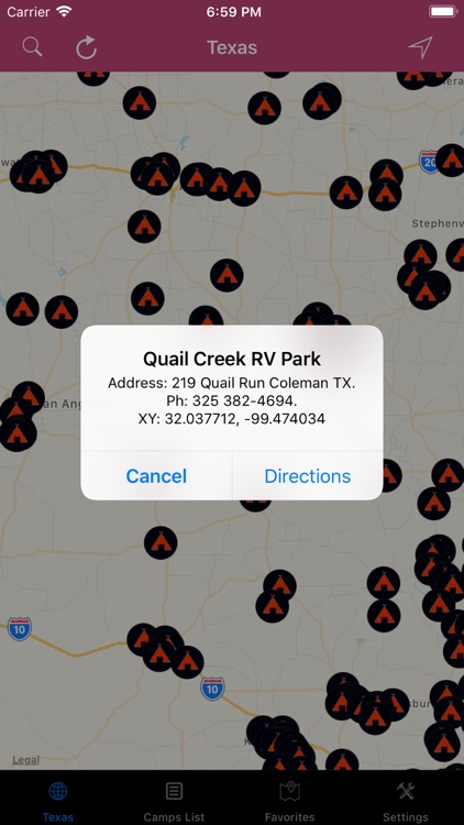 Texas – Campgrounds & RV Parks screenshot-3