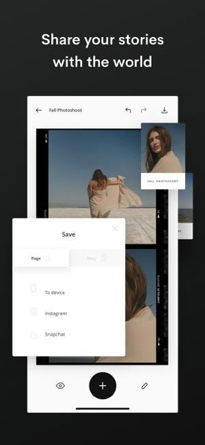 Unfold — Editor de Historias Screenshot