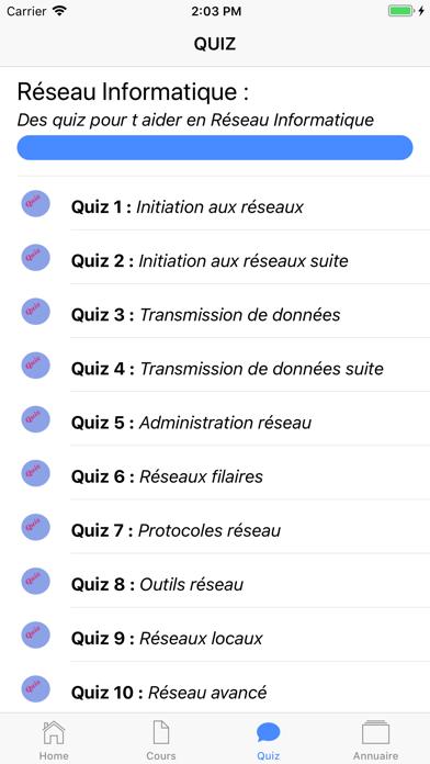 Cours de Réseau Informatique screenshot 5