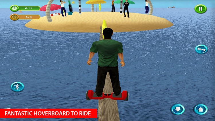 Riding Hoverboard Stunts Beach