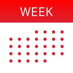 Ícone do app WeekCal for iPad