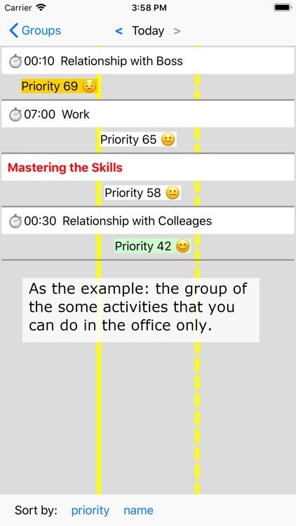 Activities and Priorities screenshot-7
