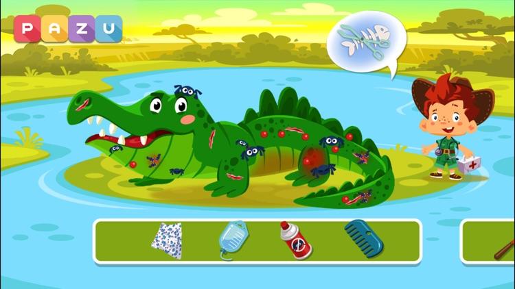 Animal Doctor Safari kids game screenshot-0
