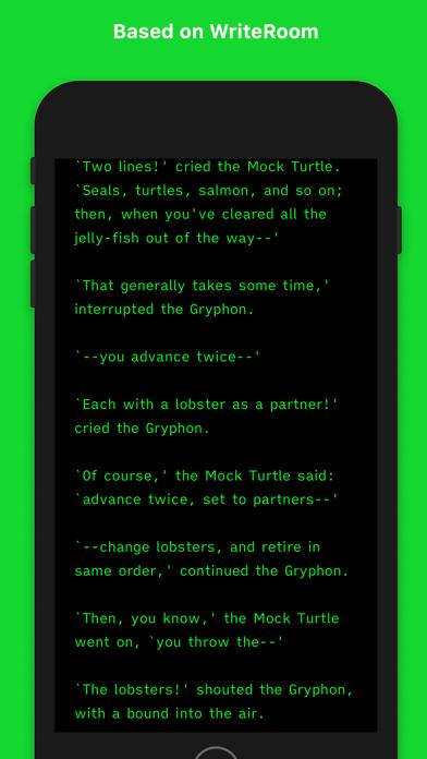Screenshot #1 pour Writemator - Plain Text Editor