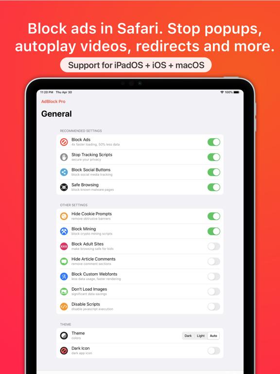 AdBlock Pro for Safariのおすすめ画像1