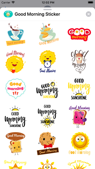 Good Morning Sticker Screenshot