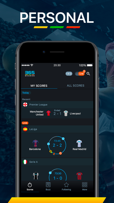 Screenshot for 365Scores - Live Scores in South Africa App Store