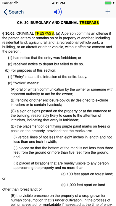 Screenshot for TX Penal Code 2020 - Texas Law in United States App Store