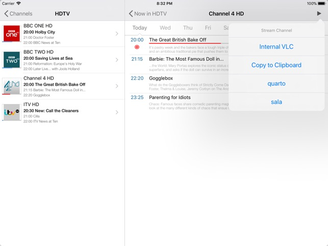 TvhClient on the App Store