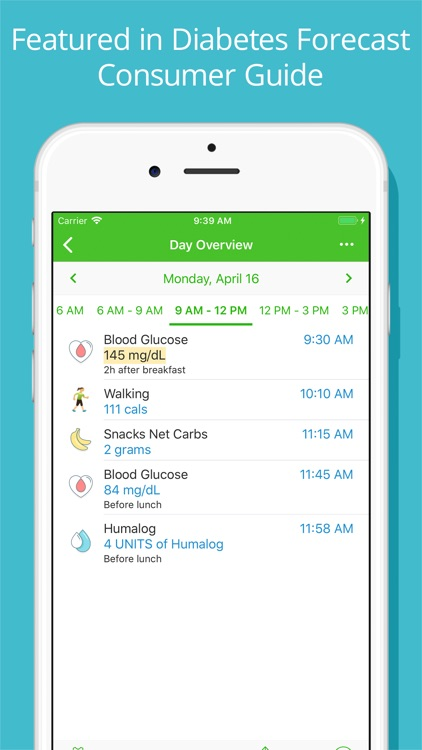 Diabetes Tracker by MyNetDiary screenshot-1