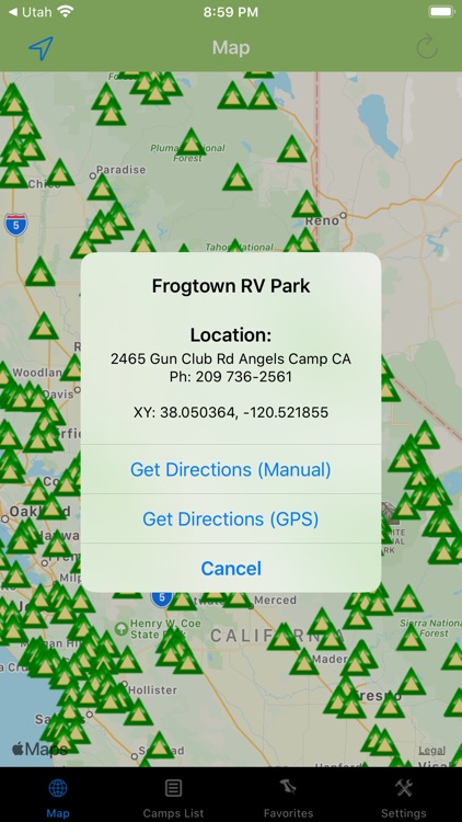 California – Camps & RV spots