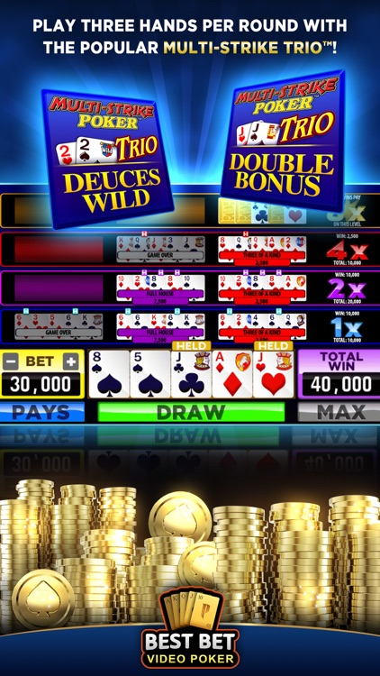 Best Bet Video Poker|50+ Games screenshot-7